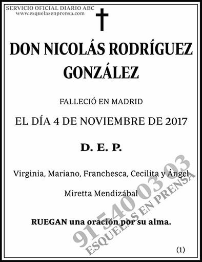 Nicolás Rodríguez González